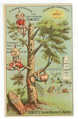 c1880s Domestic Sewing Machine trade card - others in the graveyard