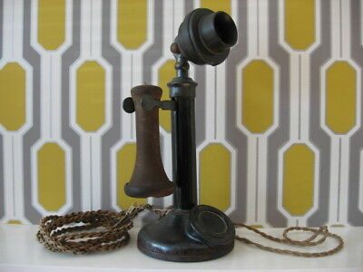 """Early Vintage No.150 phone 13"""" tall, sold as seen weight over 2.2kg"""