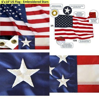 6x10 foot large commercial grade nylon us american flag outdoor 6x10 foot large nylon commercial grade us american flag outdoor flags gift new publicscrutiny Image collections