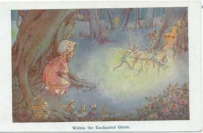 Hilda T. Miller    Girl  watches fairies within the Enchanted glade