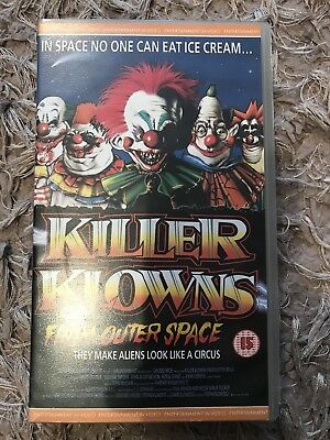 Killer Klowns From Outer Space - Original 1980s VHS - Excellent  Condition!