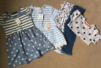 1-1.5 Years/12-18 Months Girls Bundle. Includes Dress, Trousers, Top. Some BNWT