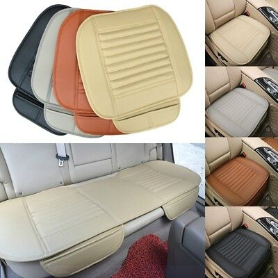 1 Set Breathable PU Leather Bamboo Car Seat Cover Pad Mat for Auto Chair Cushion