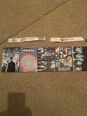 Oasis Tickets Postcards Etc