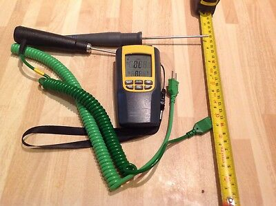 digital thermometer/thermocouple double way with 2 probes
