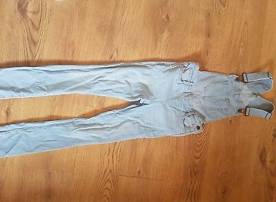 New Look skinny denim dungaree's. Girls age 11