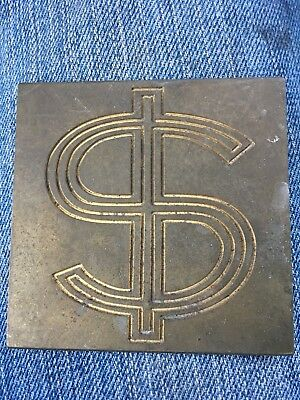 Solid Brass $ Small Sign