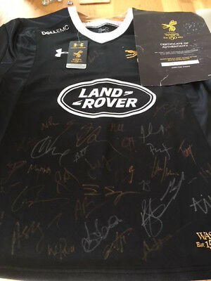 Signed Wasps Rugby shirt 2017/18 Squad with Certificate of Authenticity