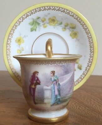 Museum Quality Sevres Demitasse Cup And Saucer Signed