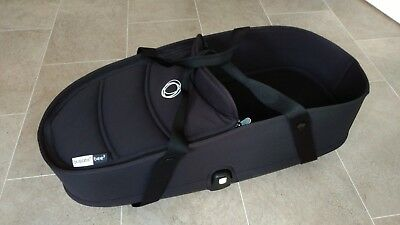 Bugaboo Bee 3 Carrycot, base, and pram clips - black - good condition