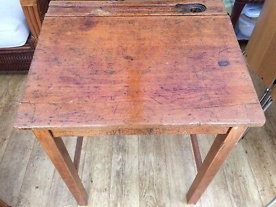 Vintage Solid Wood School Desk