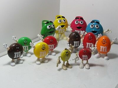 Lot of 13 Collectible Vintage M&M Candy Dispensers