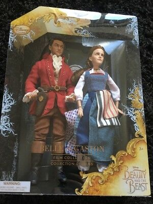 Disney Beauty and the Beast Film Collection Belle and Gaston Doll Set figures