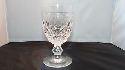 "Waterford Crystal Wine Glass ""colleen"" Cut Short Stem 4 3/4"" Tall Signed"