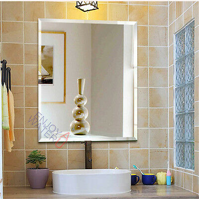 900x750mm Bathroom Mirror Bevel Edge Shaving Wall Rectangle Frameless Commercial
