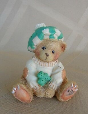 "Cherished Teddies Figurine  ""Luck Found Me A Friend In You""  Sean #916439"
