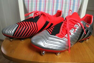 Adidas Predator Incurza TRX AG Mens Rugby Boots B40851 Silver UK Size 11