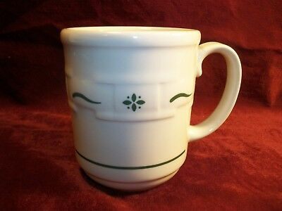 Longaberger Woven Traditions Heritage Green Pottery Mug 12 oz Coffee Cup EUC