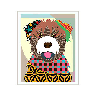 Bouvier des Flandres Dog Pop Art Pet Animal Print Puppy Portrait  Painting NEW