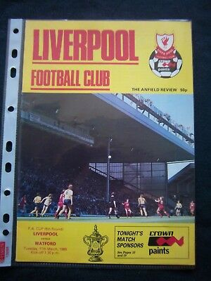 LIVERPOOL FC - WATFORD   1985/86   FA Cup  6.Round / Orig.Programme  !!  RARE