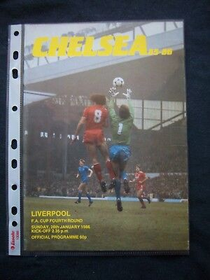 CHELSEA FC - LIVERPOOL FC   1985/86   FA Cup  4.Round / Orig.Programme  ! RARE