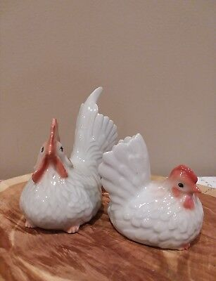 Vintage Ceramic Rooster And Hen (Excellent Condition)