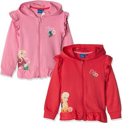 Disney Frozen Girls Outfit Clothes Tracksuit Set Fleece Hoodie and Joggers 3-9y