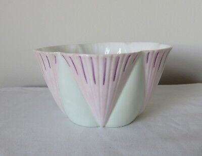 Rare Shelley Dainty Rd 272101 Sugar Bowl in Pink & Blue