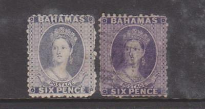 BAHAMAS 1863 6d LILAC AND DEEP VIOLET USED