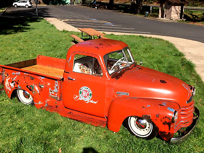 1952 Chevrolet Other Pickups  1952 Chevy 3100 Truck Air Ride Bagged Rat Rod Patina Low Rider Lowered