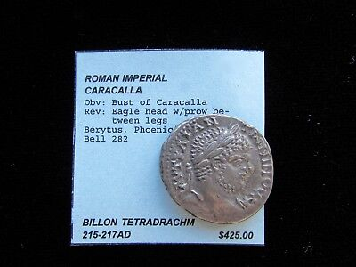 Roman Imperial Silver Tetradrachm - 215-217AD - Extremely nice condition!