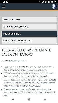 Fortress button station with as / asi interface, TEBB4