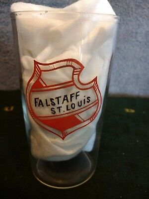 FALSTAFF BEER ST LOUIS VINTAGE 1935 BAR GLASS Rare Advertising Collectable