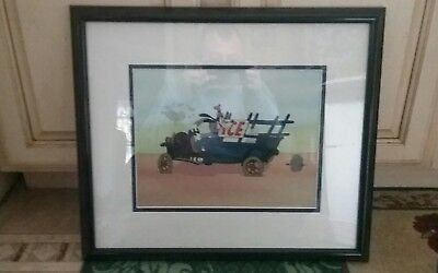 """Walt Disney's Moving Day """"Goofy Delivery"""" (20x17 Framed) Sericel and COA RARE"""