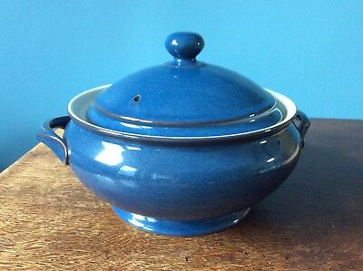 DENBY TUREEN / CASSEROLE DISH IMPERIAL BLUE immaculate never used