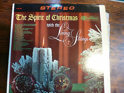 Lot of 2 Vintage Christmas Vinyl Albums, the Living Strings 1963, Organ & Chimes
