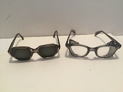 Two Vintage Ao American Optical Flex Fit Safety Glasses