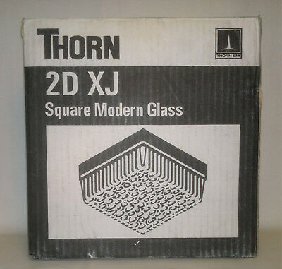 Thorn 2D XJ Wall/Ceiling Light with Square Heavy Glass NOS