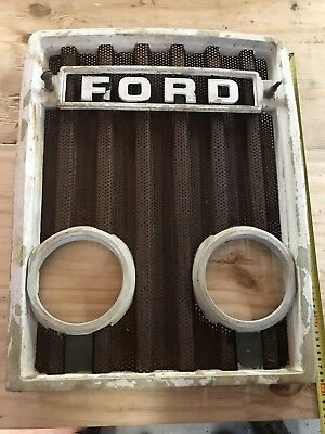 Genuine Ford Tractor Front Grill with Lamp Holes