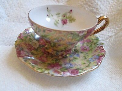 Chintz occupied japan tea cup & sacer floral pattern