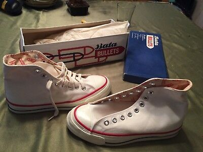 1960s Bata Bullets Canvas Basketball Sneakers Shoes size 7 new in box