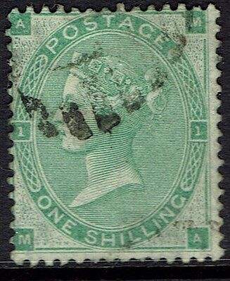 Great Britain, Used, 42A, Deep Green, Plate #1, Nice