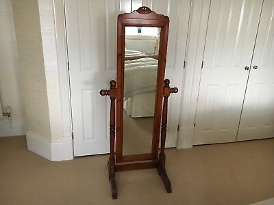 Antique Pine Cheval Mirror - Good Condition