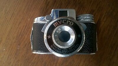vintage mycro 20mm spy camera with leather case