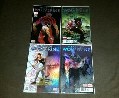 Death of Wolverine 1 to 4 Marvel 2014 NM as new Foil Covers