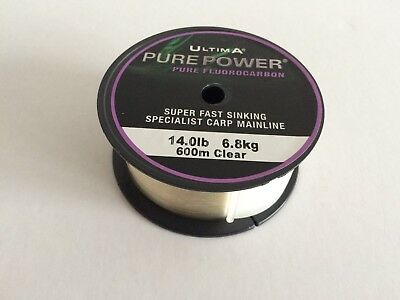 New Ultima Pure Power Fluorocarbon Carp Specialist Fishing Line Clear 14lbs