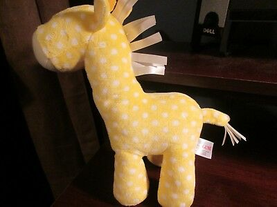 NWOT Baby Gund yellow & white plush giraffe lovey 4050500 VHTF