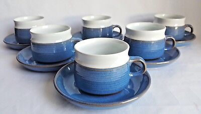 Vintage Denby 'Chatsworth' Cups & Saucers x 6