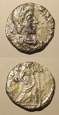 Clipped silver siliqua of Arcadius or Honorius, 0.74g, 13mm.