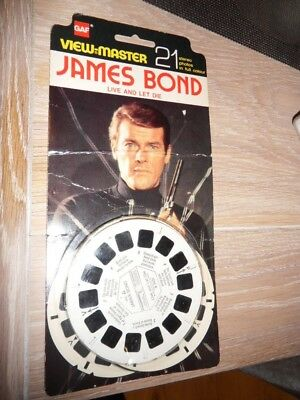 Viewmaster James Bond Live and Let Die 1973 pack 21 3D photos from film